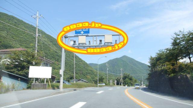 山梨県 国道137号線(尾坂道) オービス