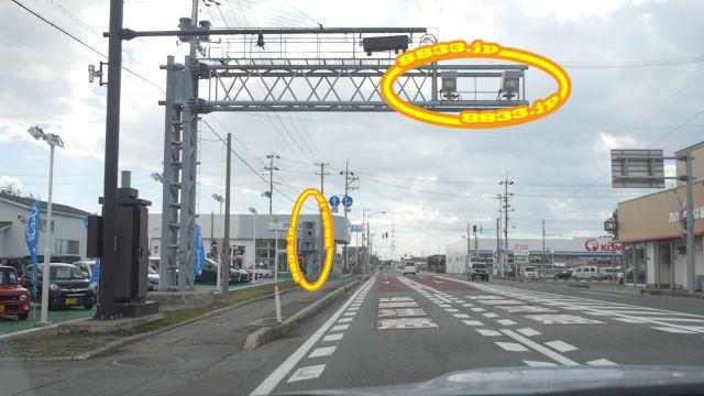 秋田県 国道7号線(船川街道) オービス
