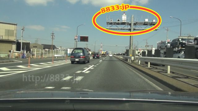 愛知県 国道23号線(名四国道) オービス