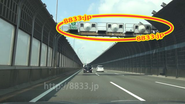 兵庫県 阪神高速5号湾岸線 オービス