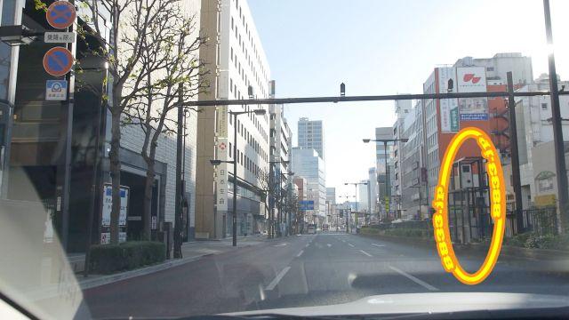 栃木県 駅前大通り オービス
