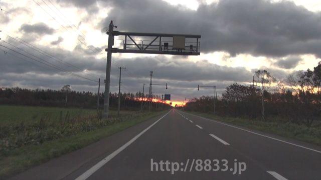 北海道 国道244号線(野付国道) オービス