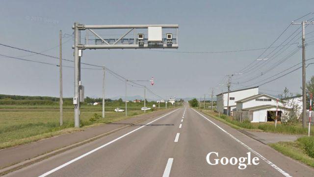 北海道 国道244号線(斜里国道) オービス