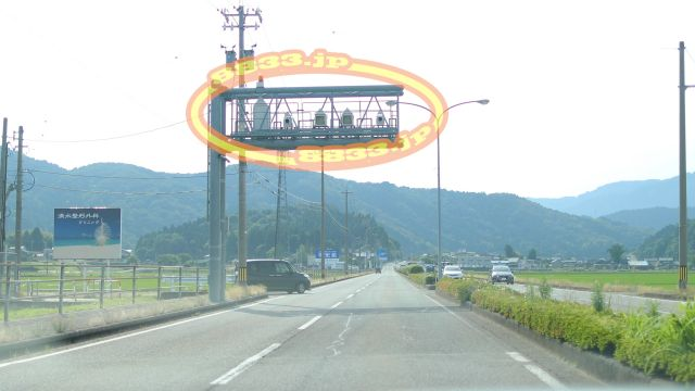 福井県 国道158号線(美濃街道) オービス